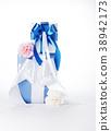 선물, 리본, 파랑 38942173