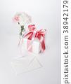 카네이션, 리본, 선물상자 38942179