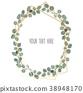 leaf, wreath, watercolor 38948170