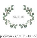 Stylish floral vector design round frame. 38948172
