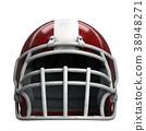 Old American Football Helmet 38948271