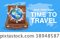 travel around the world with world landmark in bag 38948587