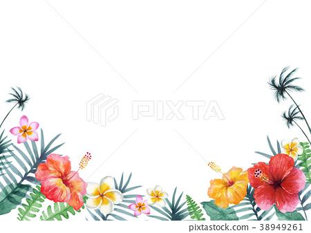hawaii, frame, hibiscus - Stock Illustration [38949261] - PIXTA