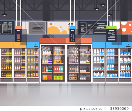 Supermarket Interior Retail Store With Assortment 38950069
