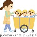 插圖素材幼兒園老師和孩子們 38951316