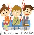 Illustration material annoying earphone 38951345