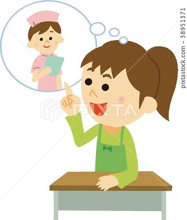 Illustration material Future dream (Nurse) 38951371