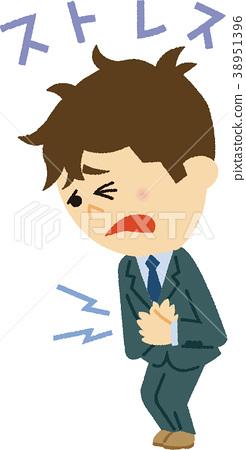 Illustration material Stress 38951396