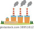 일러스트 소재 화력 발전소 38951612