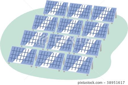 Illustration material solar power generation 38951617