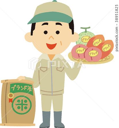 일러스트 소재 농업 브랜드화 38951825