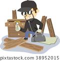 插图素材小偷 38952015