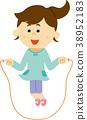 Illustration material jump rope 38952183