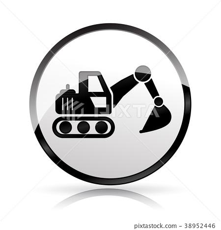 excavator icon on white background 38952446