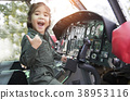asian girl hangin helicopter to dream job pilot  38953116
