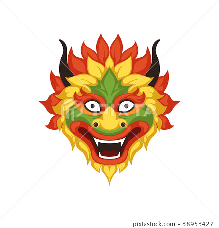 Dragon head, symbol of Chinese traditional Boat 38953427