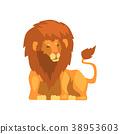 사자, 사냥꾼, 벡터 38953603