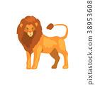 사자, 사냥꾼, 벡터 38953608