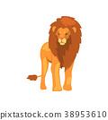 사자, 사냥꾼, 벡터 38953610