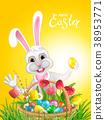 復活節 雞蛋 兔子 38953771