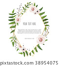 Greeting design with beautiful spring flowers. 38954075