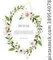 Greeting design with beautiful spring flowers. 38954078