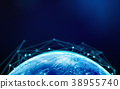 Planet Earth with internet connection lines for technology conce 38955740