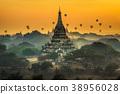above, bagan, myanmar 38956028
