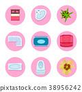 icon set flat 38956242