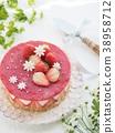 蛋糕 奶酪蛋糕 草莓 38958712