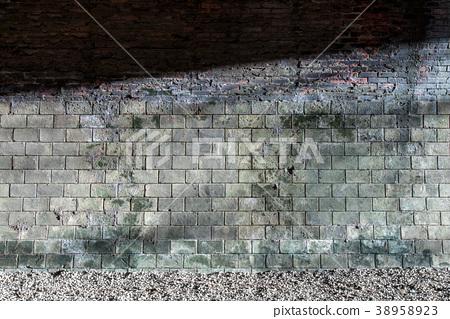 隧道牆壁與光 shadow of sunshine on tunnel wall トンネルの壁と光 38958923