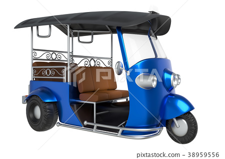 Tuk Tuk, Thai traditional taxi 38959556