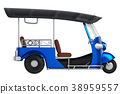 Tuk Tuk, Thai traditional taxi for public transpor 38959557