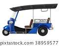 Tuk Tuk, Thai traditional taxi 38959577