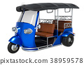 Tuk Tuk, Thai traditional taxi 38959578