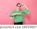 Businesswoman with hair bun 38959807
