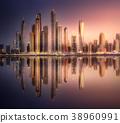 Dubai Marina bay view from Palm Jumeirah, UAE 38960991