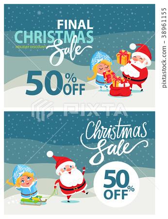 Final Christmas Sale Bbanner Santa Claus Snow 38961155