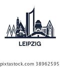 Detailed emblem of city Leipzig, Germany 38962595