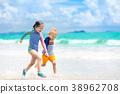 beach, play, kid 38962708