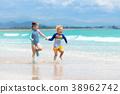 beach, play, kid 38962742