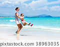 beach, child, family 38963035