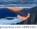 sunset in Dolomite Alps, Italy 38963361