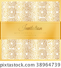 Luxury wedding invitation 38964739