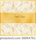 Luxury wedding invitation 38964761