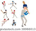 Baseball team player vector sport man in uniform 38966013