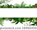 Tropical leaves background. Rectangle plant frame  38966409