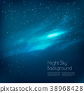 Night sky background with clouds and stars. Vector 38968428
