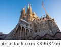 Sagrada Familia在黎明的早晨 38968466