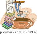 背景 咖啡杯 書 38968932